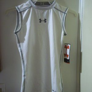 new Under Armour youth small fitted tank